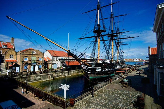 HMS Trincomalee, Britain's oldest warship still afloat, which is docked at The National Museum of the Royal Navy Hartlepoo