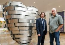 Richard Pinfold, Marketing Director Meadowhall, Steve Mehdi, Heart Of Steel Artist