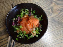 The Black Cock Inn Broughton - salmon dish ©Sheenah Alcock