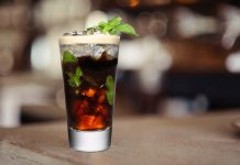 Cold brew coffee mocktail - Italian sweetheart